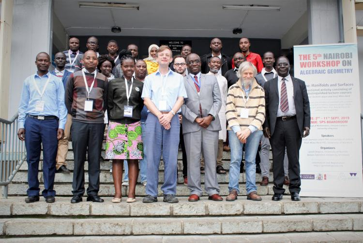 Group photo of the 5th Nairobi workshop on algebraic Geometry