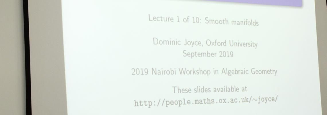 Lecture  on Introduction to Differential Geometry by Prof. Dominic Joyce FRS.