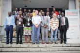 Participants during the 5th Nairobi Workshop on Algebraic Geometry held on 2nd to 11th September 2019 at the School of Mathematics, University of Nairobi. Prof. Miles Reid (second-right) from University of Warwick and Prof. Dominic Joyce (centre) from University of Oxford were among guest lecturers who lectured on different aspects of Geometry during the graduate summer school
